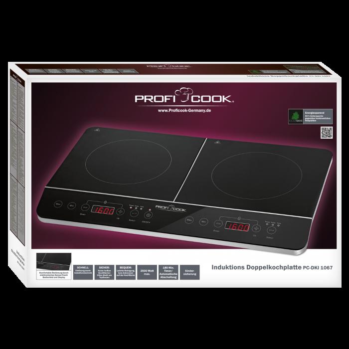 Двухконфорочная индукционная плита ProfiCook PC-DKI 1067 черный / нержавеющая сталь