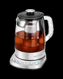 ProfiCook Glas Tee-/Wasserkocher PC-WKS 1167 G edelstahl/schwarz